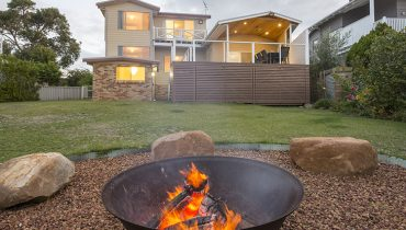 Fire pit at Dunsborough Sunrise